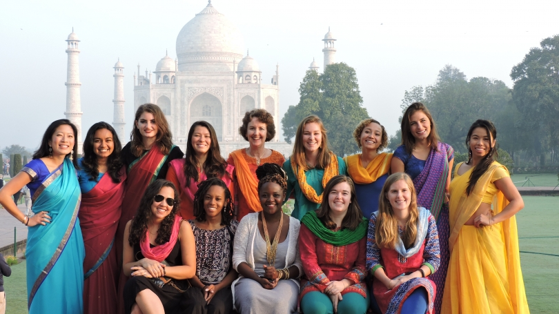 Group shot at the Taj Mahal